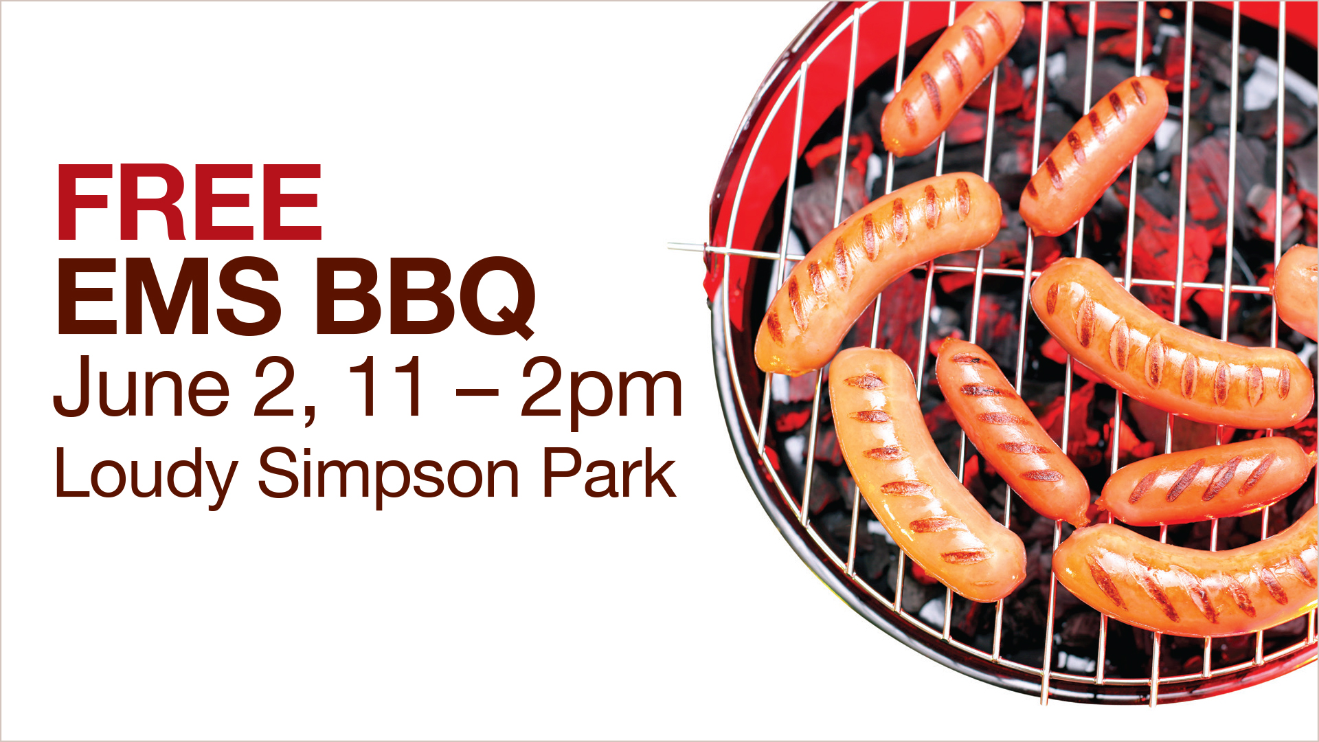 Free EMS BBQ on June 2